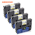 Absonic 4 PCS Krimpkous Tubing HSe611 HSe-611 5.8mm * 1.5 m Label Tape Cassette Cartridge Compatibel Brother label Printer