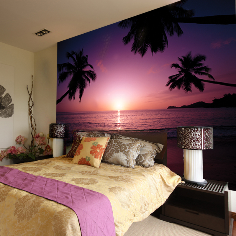 Large Murals Real Shooting Seascape Beach Sunset Wallpaper Mural Bedroom  Living Room Wallpaper