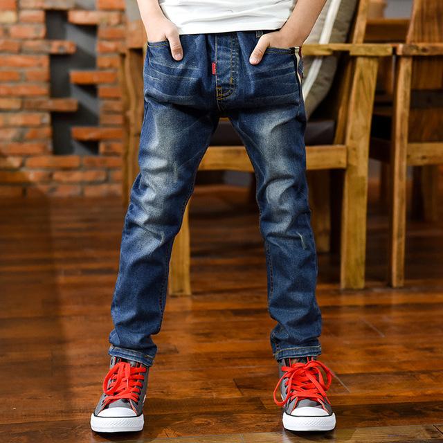 Niños niños jeans pantalones niños Del Otoño Del Resorte pantalones de mezclilla ropa de los niños del bebé pantalones de los muchachos de 6-10 años