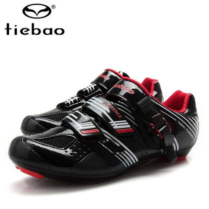 Купить с кэшбэком Tiebao road Cycling Shoes add pedal set Men sneakers Women Triathlon Zapatillas Ciclismo Fiberglass-Nylon Outsole Bike Shoes