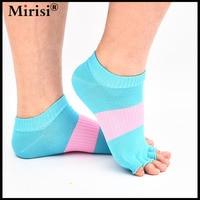 Women 5 Toe Socks Non Slip Grip Durable Open Toe Socks Half Toe Ankle Grip Five
