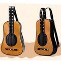 Venda Novo 2017 Mulheres Guitarra Violino Rebites Mochilas De Couro das mulheres sacos de Viagem Escola Bolsa de Ombro para adolescentes Meninas vermelho LJ773