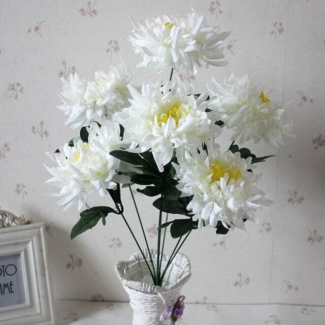 Keythemelife 1 bouquet pretty 7 head simulation chrysanthemum keythemelife 1 bouquet pretty 7 head simulation chrysanthemum artificial flower home party decal wedding decoration b5 mightylinksfo