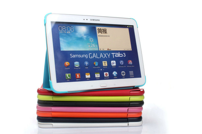 3 in 1 Hot Sale Business book Pu Leather cover case For Samsung Galaxy Tab 3 10.1 P5200 P5210 + Stylus + Screen Film