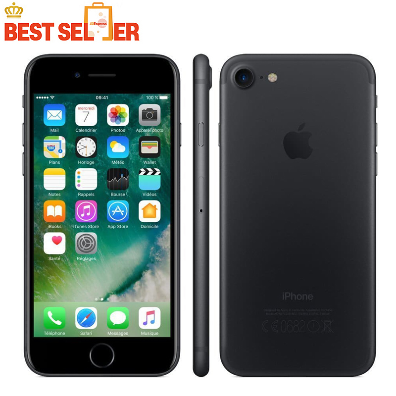 Original Unlocked Apple IPhone 7 4G LTE Smartphones IOS 12.0MP 2GB ROM