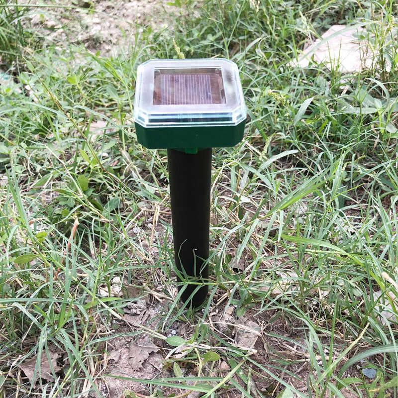 Taman Outdoor Tahi Lalat Nyamuk Tenaga Surya Ultrasonik Mol Ular Burung Nyamuk Mouse Ultrasonic Pest Repeller Control Taman Halaman