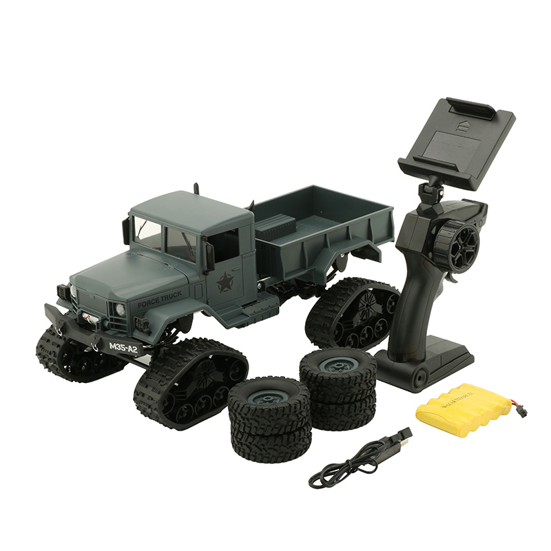 WPL 1/16 RC Car 4wd Remote Control Military Truck Wheels Changeable Climbing Crawler Car Toys Gift For Children