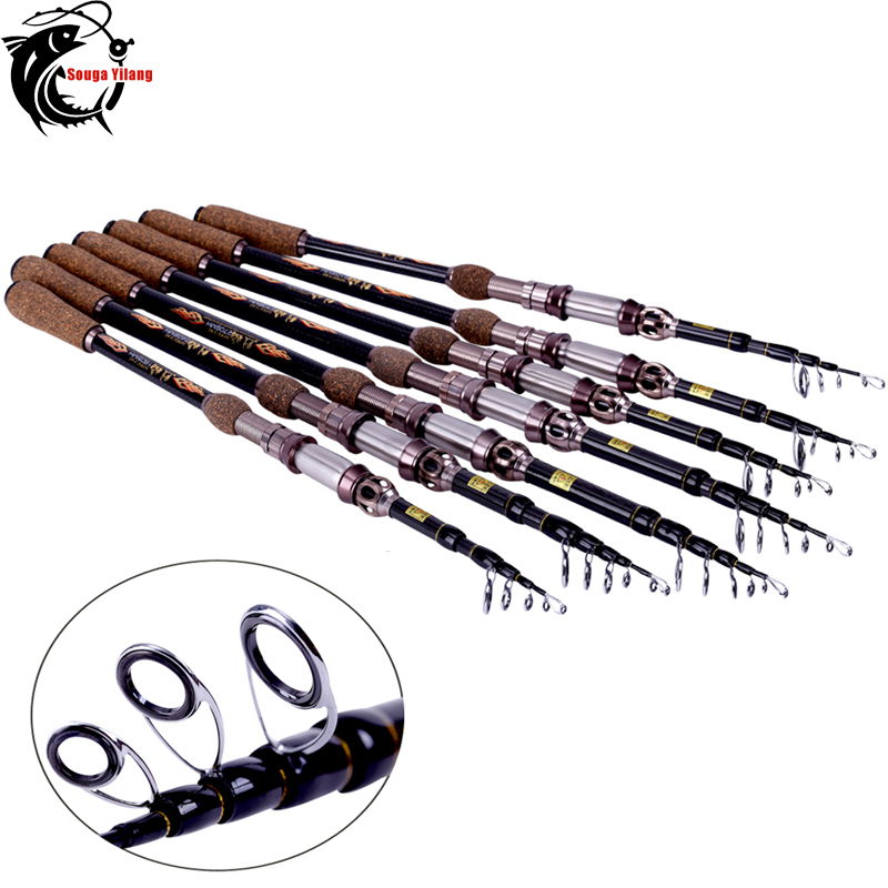 Top Quality! 99% Carbon Fiber Telescopic Fishing Rod Spinning Pole Portable Saltwater Spinning Fishing Rod 1.8M 2.1M 2.4M 2.7M