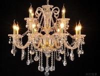 Luxury Crystal Chandelier 15 Lights E14 Bulb Lamp For Living Room Bedroom Gold Candle K9 Crystal