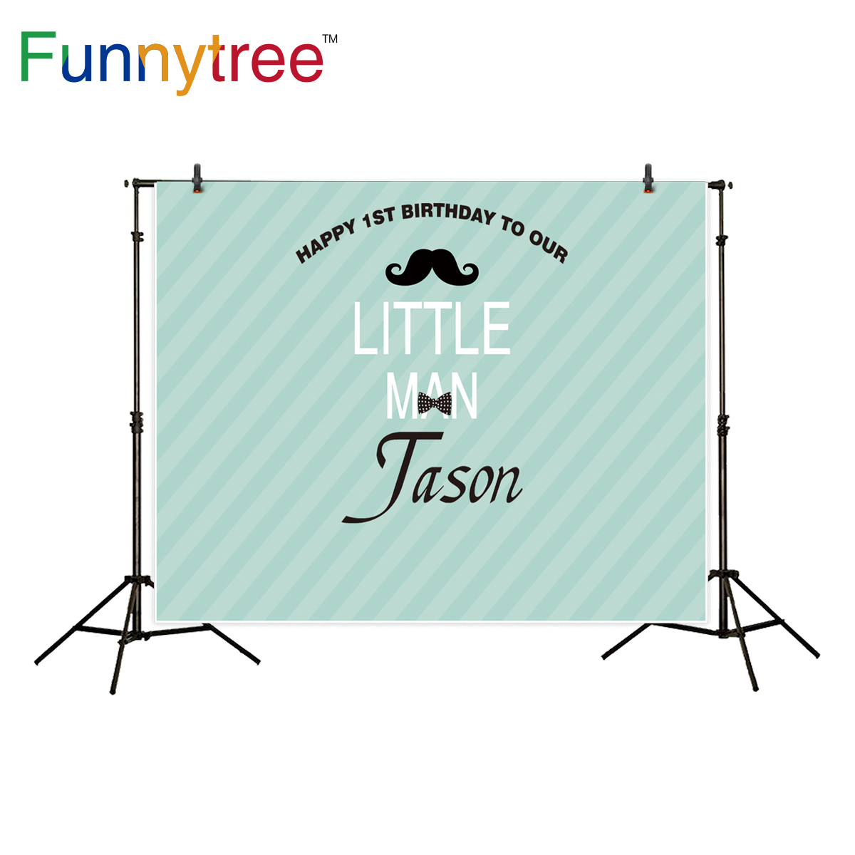Funnytree photography background little man theme birthday party moustache backdrop photocall photo studio printed capisco super city photography backdrop theme building studio super hero photo background prop for photography party