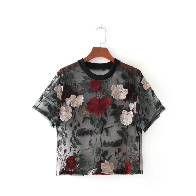 Fashion Blouses Shirts with Beautiful Flowers for summer