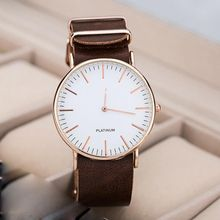 Fashion Casual Watches Men's Women's Simple Leather Watch Stainless Steel Quartz Wristwatches