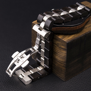Image 3 - BOBO BIRD Wood Watch Men Business Watches Stop Watch Chronograph With Wood Stainless Steel Strap relogio masculino V R22