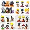 Figura Brinquedos de Ação Naruto Uchiha Sasuke Uchiha Madara Q Versão pvc Figura Brinquedos Bonecas Modelo Crianças Melhor Presente de Natal 6 pçs/set