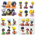 Naruto Action Figure Toys Uchiha Sasuke Uchiha Madara Q Version pvc Figure Toys Dolls Model Kids Best Christmas Gift 6pcs/set
