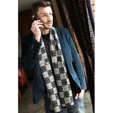 Mens Scarf Fashion Winter And Autumn Cotton Plaid Long Scarf Tartan Scarf