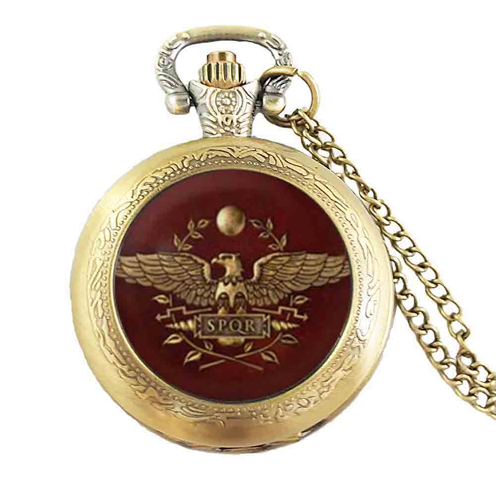 Game Gamer Total War Rome Necklace pocket watch chain Jewelry women men gift vintage antique charm vintage 2017 doctor who image