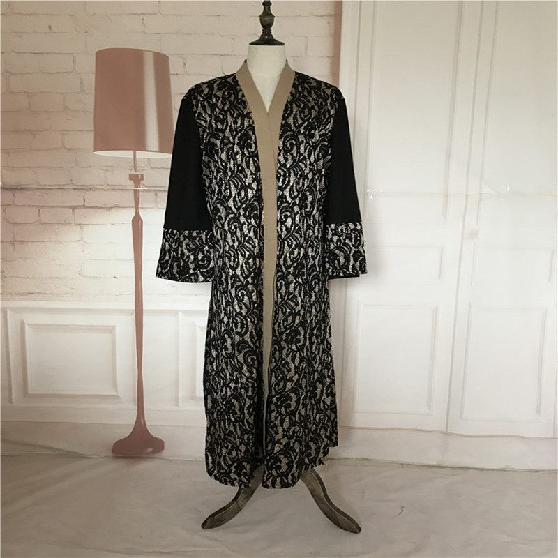 Mode Musulman Abaya Robes Ouverts Cardigan Patchwork Robe Maxi Robe - Vêtements nationaux - Photo 6