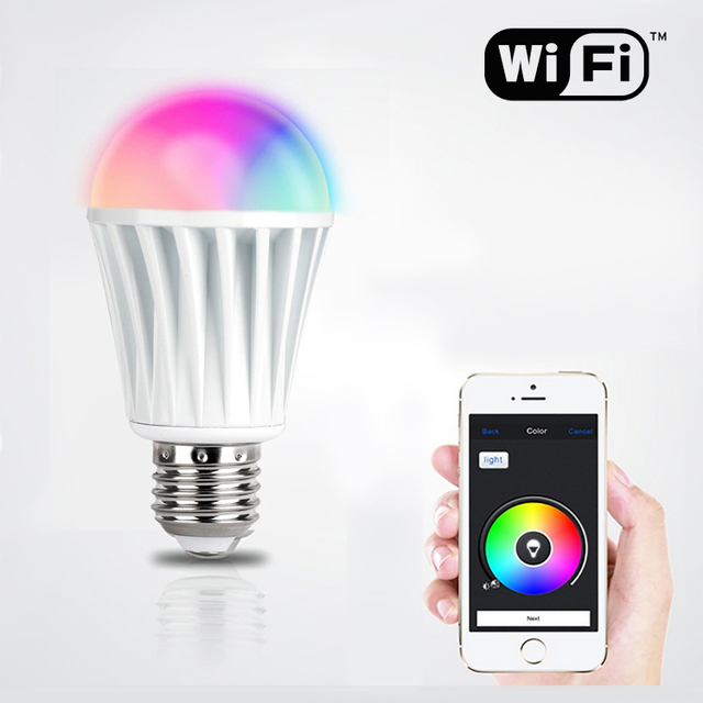 Timer For Light Bulb: 2015 new LED Light Bulb Wifi controller+Wireless RF Touch Remote wifi bulb  Lamp switch,Lighting