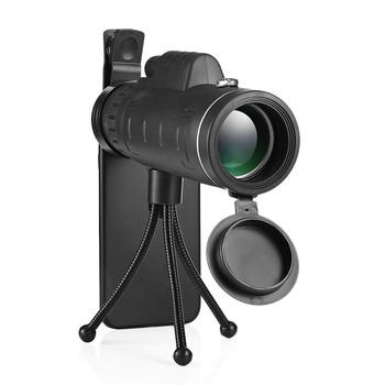 40X60 BAK4 monocular Telescope HD Mini monocular zewnątrz polowanie Camping zakresy z kompas telefon zacisk statywu tanie i dobre opinie 52mm 2 05 22mm 0 87 3mm 0 12 14mm 0 55 1500 9500m 15cm 5 91 cale fully multi-coated FMC green film
