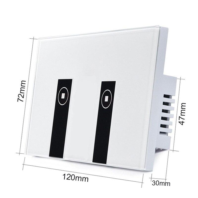 eWelink US Standard 2 Gang Wifi Control Touch Light Switch Work with Alexa/Google Home, Wireless Control Smart Switch via Phone,