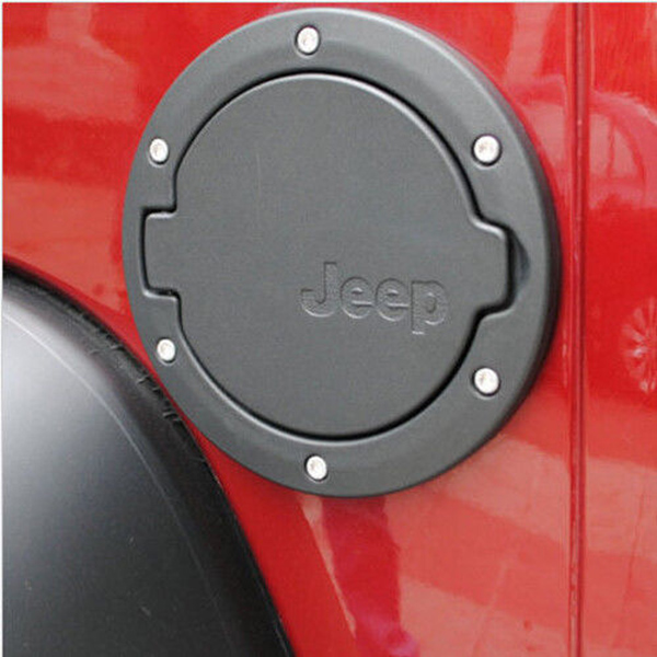 Chrome Fuel Filler Cover Gas Tank Cap Cover For 2007-2015 Jeep Wrangler