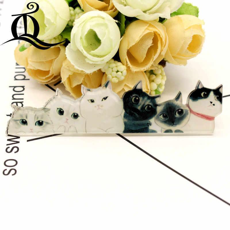Envío gratis 1 Uds pintura de gato de dibujos animados insignias ropa insignias de acrílico Kawaii iconos en la mochila pin broche distintivo 07