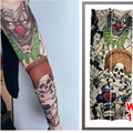 Fake Manga Del Tatuaje Cuerpo Temporal Mangas Del Brazo Medias Moda Maquillaje Accesorios 1 UNID Flash Body Art Stickers Harajuku 2017