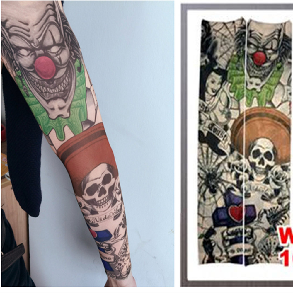 Fake Tattoo Sleeve Midlertidig Body Arm ærmer Strømper Mode Make Up Tilbehør 1 PC Flash Body Art Stickers Harajuku 2017