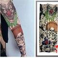 Falso Manga Tatuagem Temporária Mangas Braço Meias Moda Make Up Acessórios Do Corpo 1 PC Flash Body Art Adesivos Harajuku 2017