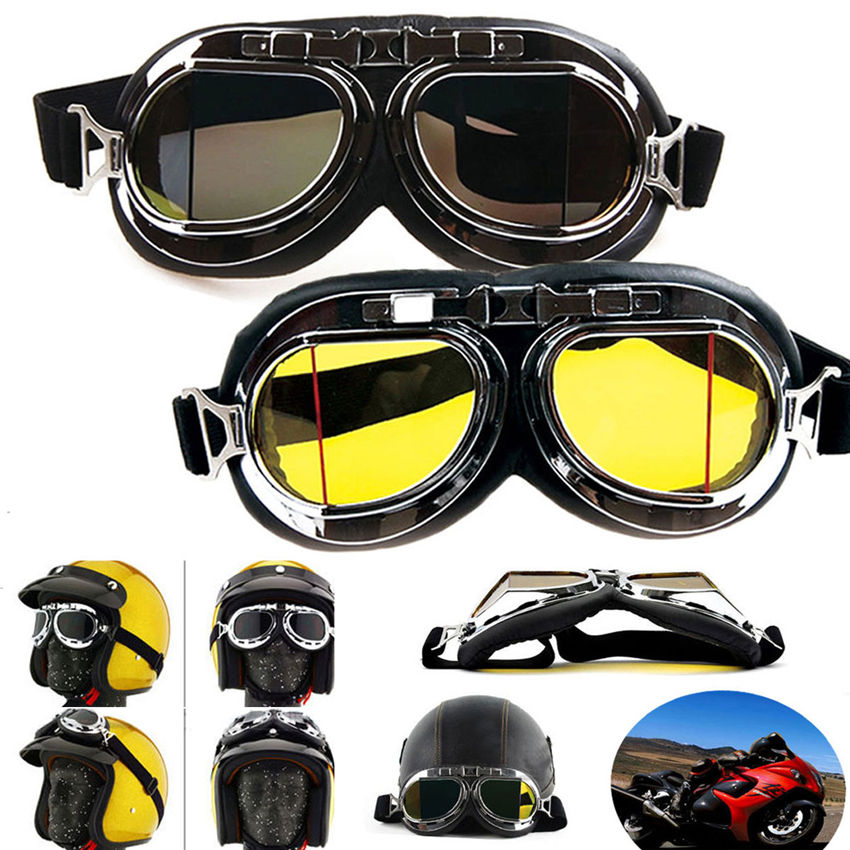 Men's Glasses Steampunk Gothic Goggles Flying Scooter Helmet Glasses Cool Steampunk Goggles Glasses Cosplay Welding Wear Hot Sale