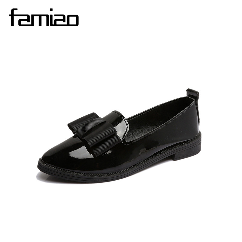 FAMIAO Classic Brand Shoes Black Oxford Shoes for Women Flats Women Casual Pointed Toe  Comfortable Slip on Women Shoes b971 2017 summer new fashion sexy lace ladies flats shoes womens pointed toe shallow flats shoes black slip on casual loafers t033109