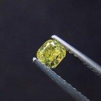 0.37ct форма подушки натуральный желтый алмаз драгоценные камни Сыпучие камни