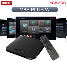 Newest M8S Plus W Android 7.1 tv box Amlogic S905W DDR3 1GB Flash 8GB 2.4G Wifi 4K HD2.0 support Youtube Facebook set top box