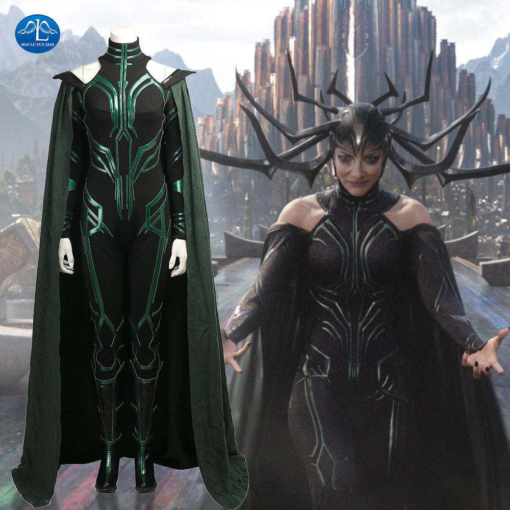 MANLUYUNXIAO Movie Thor 3 Costume Hela Cosplay Costume Thor Ragnarok Cosplay Costume Women Halloween Costumes For Adult