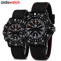 Addies Men's Watch Quartz Analog Portable Luminous Dial Leisure Watch 50M Waterproof Outdoor Swimming Military Clock