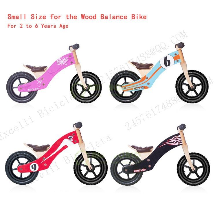 b05-Baby two wheels Wood Balance Bike for 2-6 Years age Bicicleta Infantil Balance Bike Kid's bicycle Common Childen's Cycling