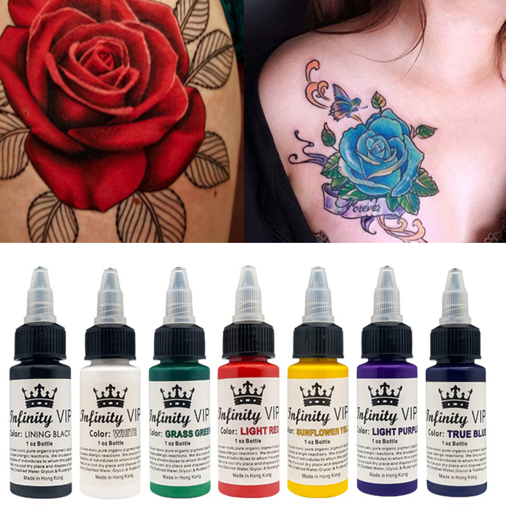 30ML Semi Permanent Natural Plant Tattoo Pigment Permanent Makeup Tattoos Ink Pigment For Body Art Paint Tattoo Color Inks TSLM2 moulin à sel et poivre