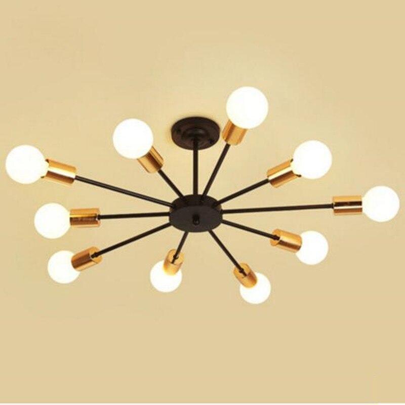 Creative indoor ceiling lamp Fashion bedroom living room bar shop LED light fixture ventilador de teto 2 color E27 plafonnier le