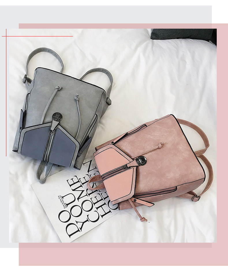 HTB1TTTVbSSD3KVjSZFKq6z10VXa2 Vintage Matte Leather Women Backpacks High Quality Multifunctional Shoulder Bag Female Girls Backpack Retro Schoolbag XA533H
