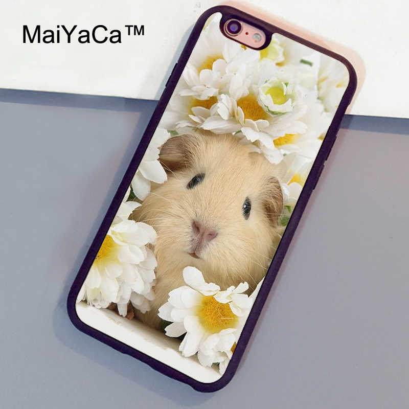 MaiYaCa Cute baby yellow Guinea pig Phone Cases For iphone 6 plus Fundas For iphone 6s plus Full Protect Rubber TPU Back Covers
