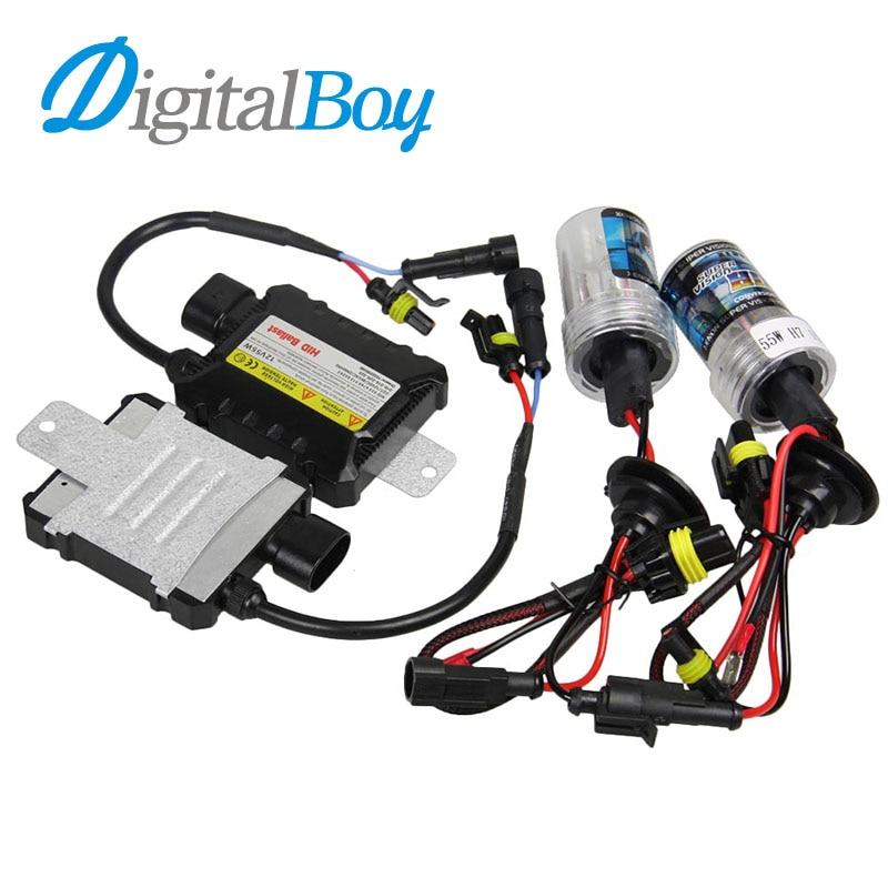 DIGITALBOY 55W Xenon Bulbs Kit Slim Ballast Block for H1 H3 H7 H8/H9 9005 9006 880/881 5000k 6000k HID Xenon Bulb Car Headlight 12v 55w fast bright ballast single beam bulb hid kit h1 h3 h4 h7 h8 h9 h10 9004 9006 881 880 kit xenon hid h7 55w 8000k