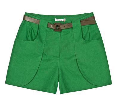 Новые женские модные Подиумные зеленые льняные хлопковые шорты женские шорты свободного размера плюс - Цвет: Зеленый
