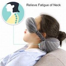 Многофункциональная бизнес-подушка для шеи, маска для глаз и сумка для хранения с ручкой, портативная 70 г, размер 13*14*24 см, удобная