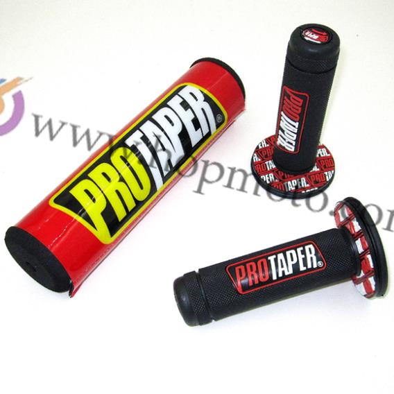 MX Dirt bike Pro Taper CRF Bar Protector Cross Handlebar Round Pad & Pro Taper Handle Colorful <font><b>Grips</b></font>