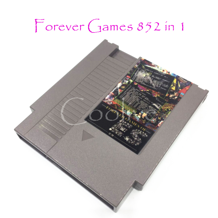 Forever Games 852 in 1 (405+447) Game Cartridge For 8 bit 72 pin Video Game Console NTSC/PAL Version 1024Mb Castlevania 1 2