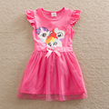 Розничная костюм Младенца девушки одеваются my little pony рождество кружева ребенок платье детская одежда детей платье девочка одежда SD669