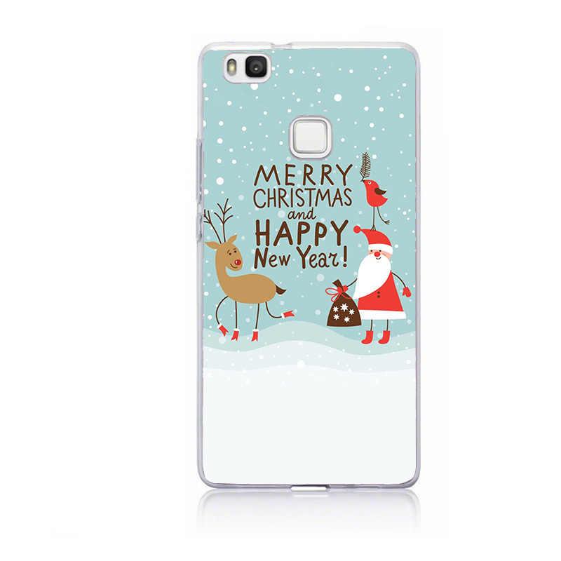 Para Huawei P9 Lite 2017 funda de silicona para Huawei P10 P20 Mate 20 Lite P Smart 2019 P30 Lite Pro Navidad funda coque blanda