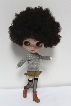 Blygirl Blyth doll explosion brown hair nude doll ordinary DIY doll body joints 7 to change their own makeup