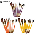 Vander Professional 9pcs Makeup Brushes Set Powder Foundation Lipstick Brush Eyeshadow Eyeliner Cosmetics Kits Pincel maquiagem